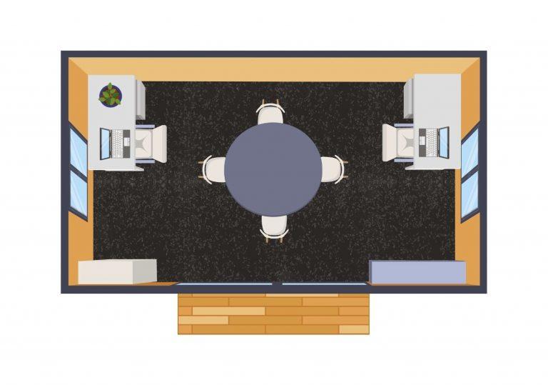 large rental cabin floorplan