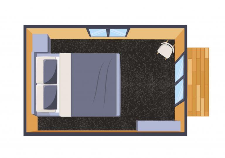 standard portable cabin floorplan