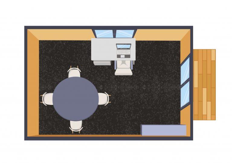 standard rental cabin floorplan