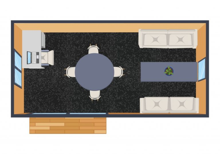 XL rental cabin floorplan